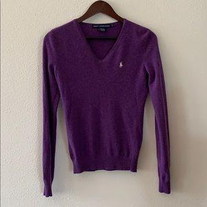 Ralph Lauren V-neck purple sweater